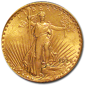 1914-S $20 St. Gaudens Gold Double Eagle - MS-62 PCGS