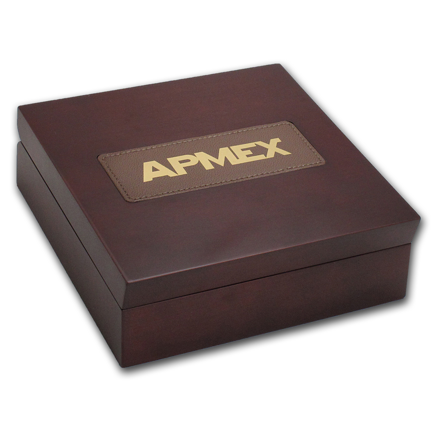 APMEX Wood Gift Box - 100 Gram PAMP Suisse Gold Bar (w/Assay)