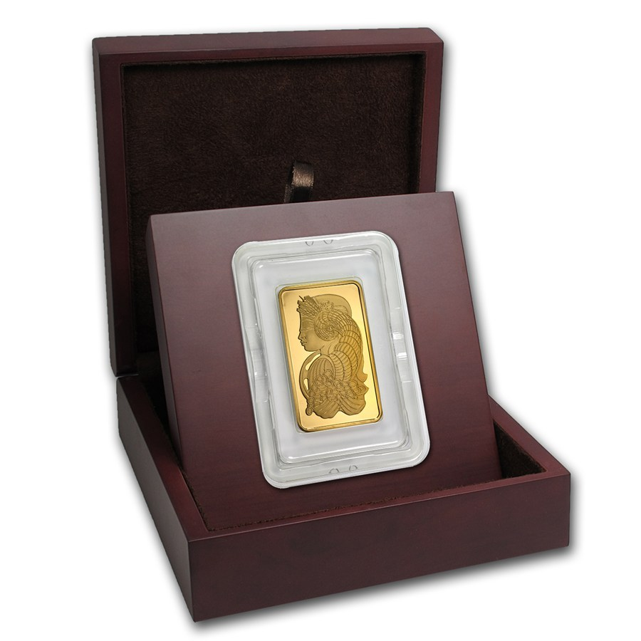 Gift Box Gold : Apmex wood gift box oz pamp suisse gold bar w assay