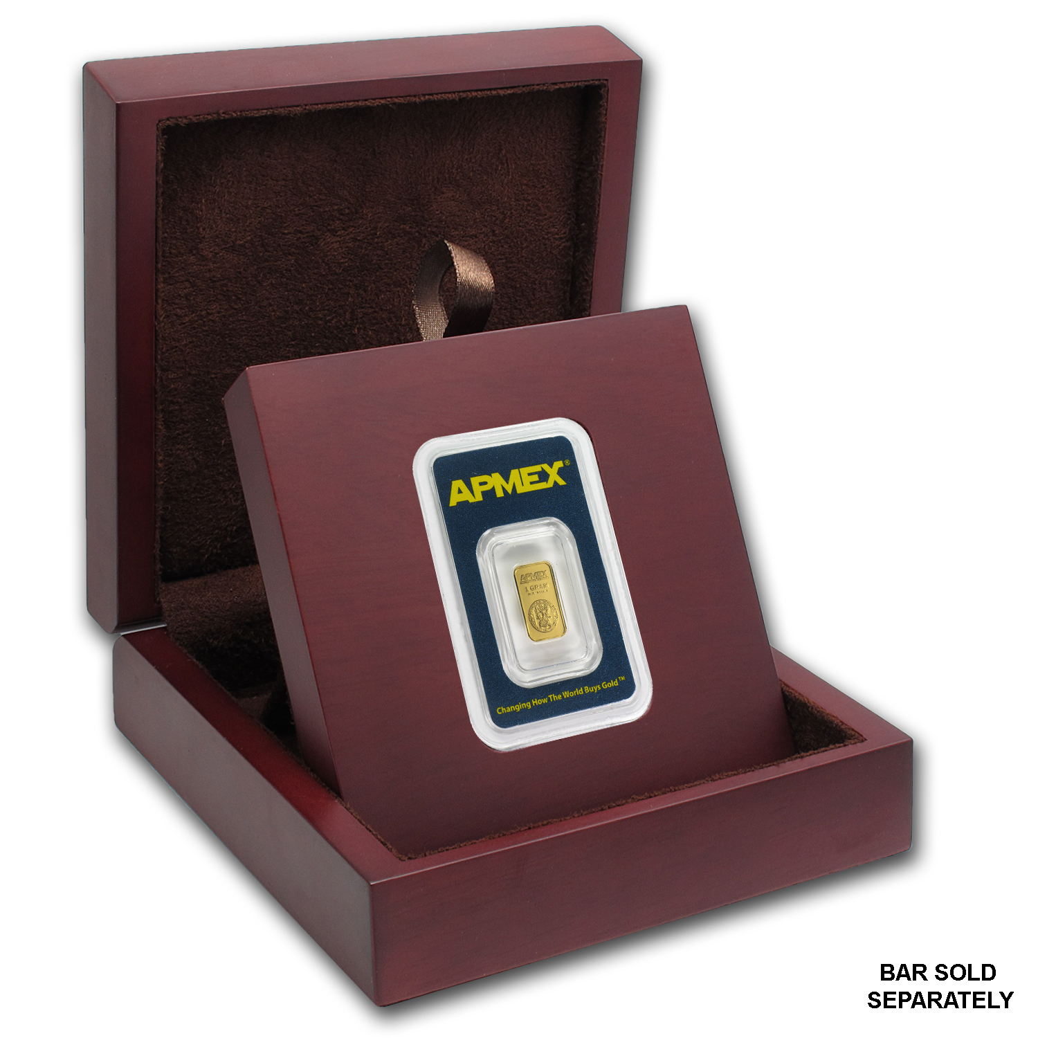 APMEX Wood Gift Box - APMEX Gold Bars Mini