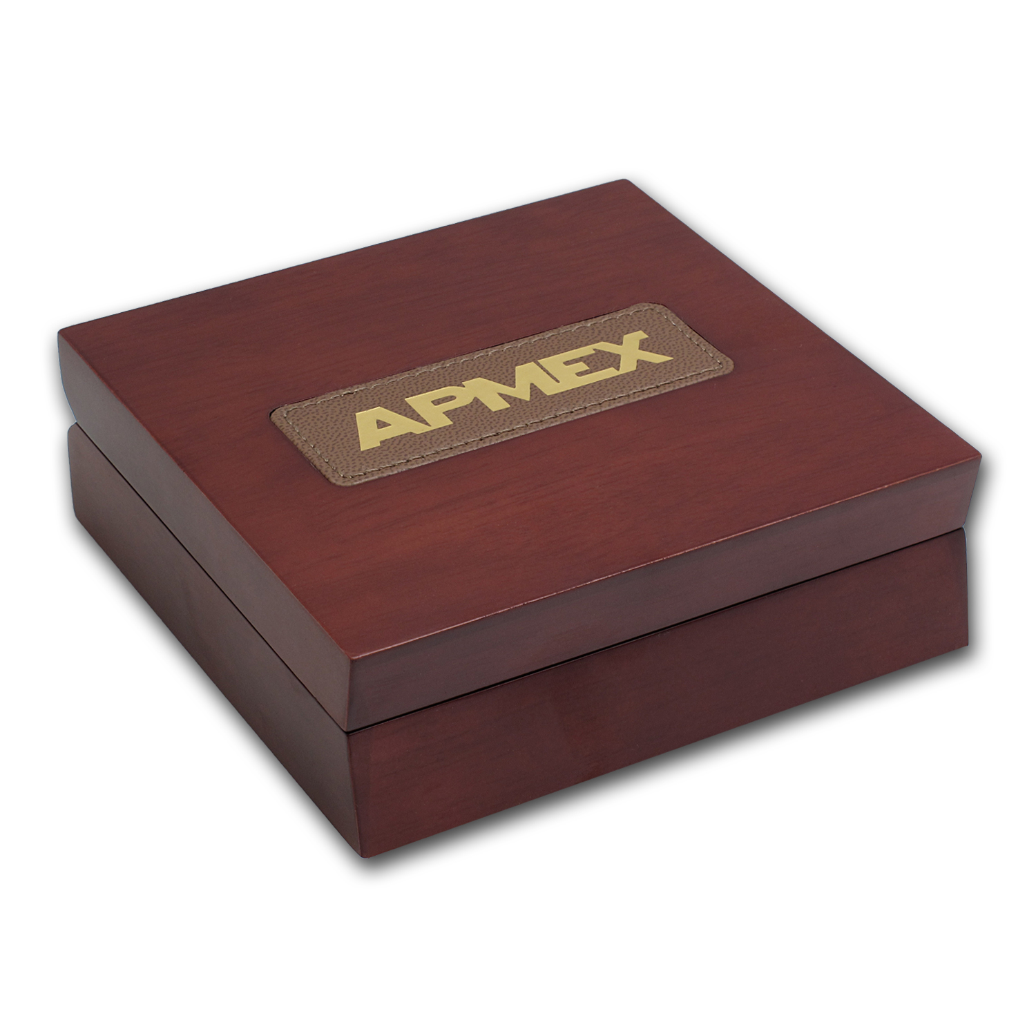 APMEX Wood Gift Box - 5 oz US Mint ATB Silver Coin w/Air-Tite Cap