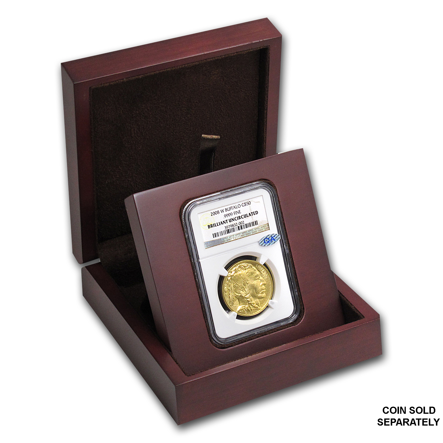 APMEX Wood Gift Box - NGC Certified Coins