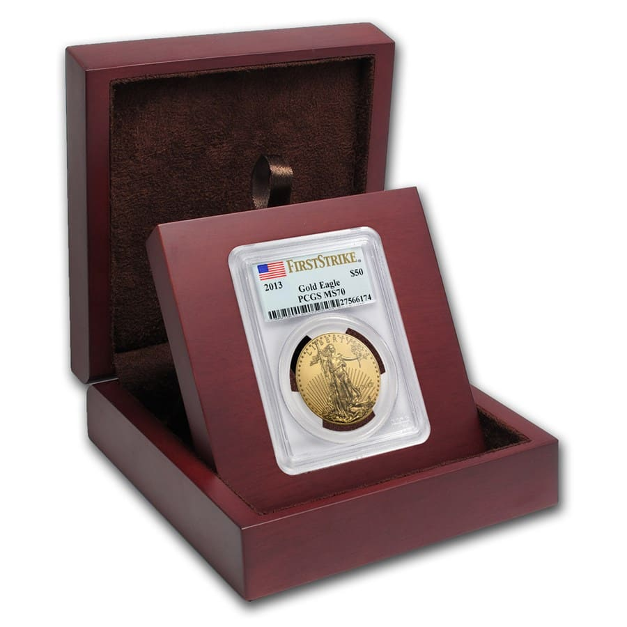 APMEX Wood Gift Box - PCGS Certified Coins