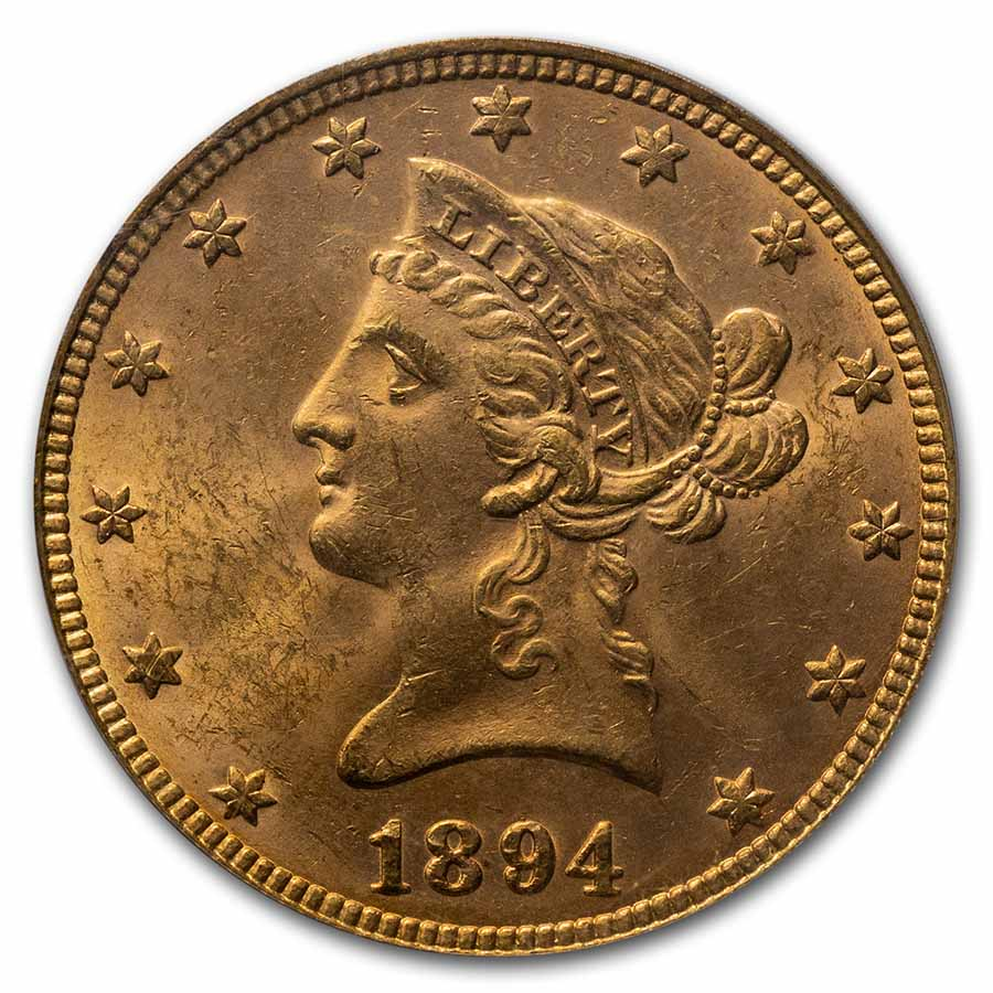1894 $10 Liberty Gold Eagle - MS-62 PCGS