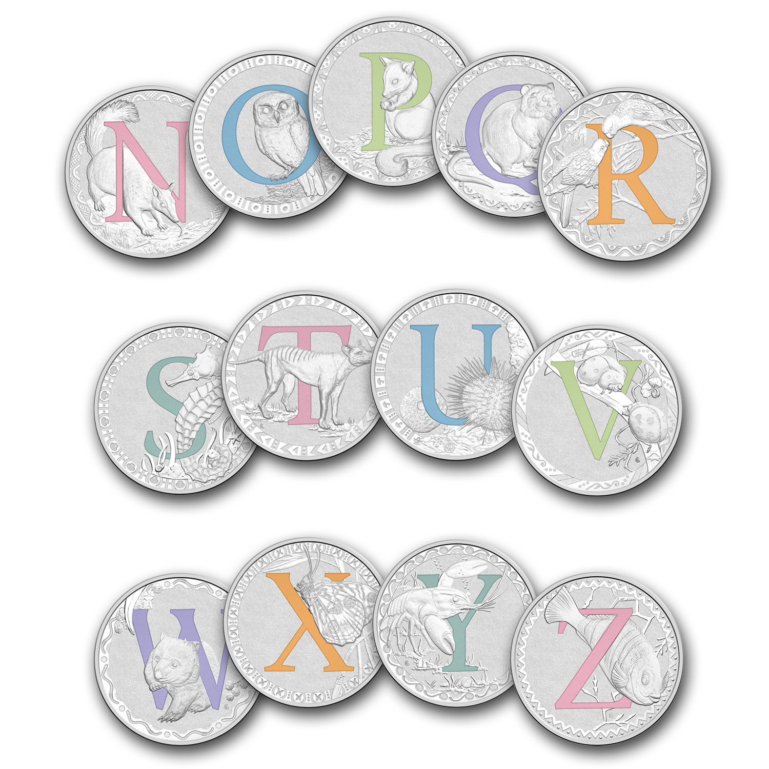 2015 Australia Silver $1 Alphabet Collection Set