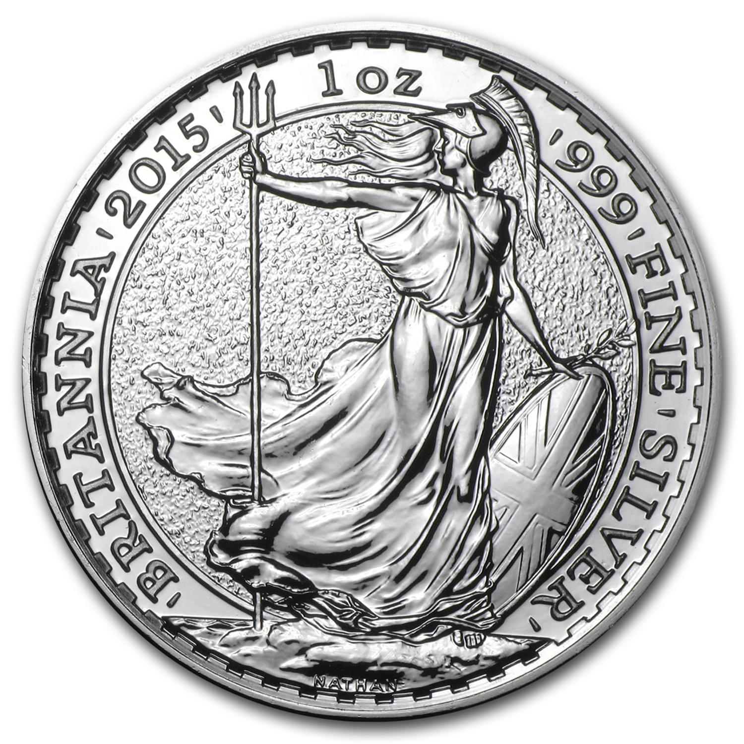 2015 Silver Britannia BU (25-Coin MintDirect® Tube)