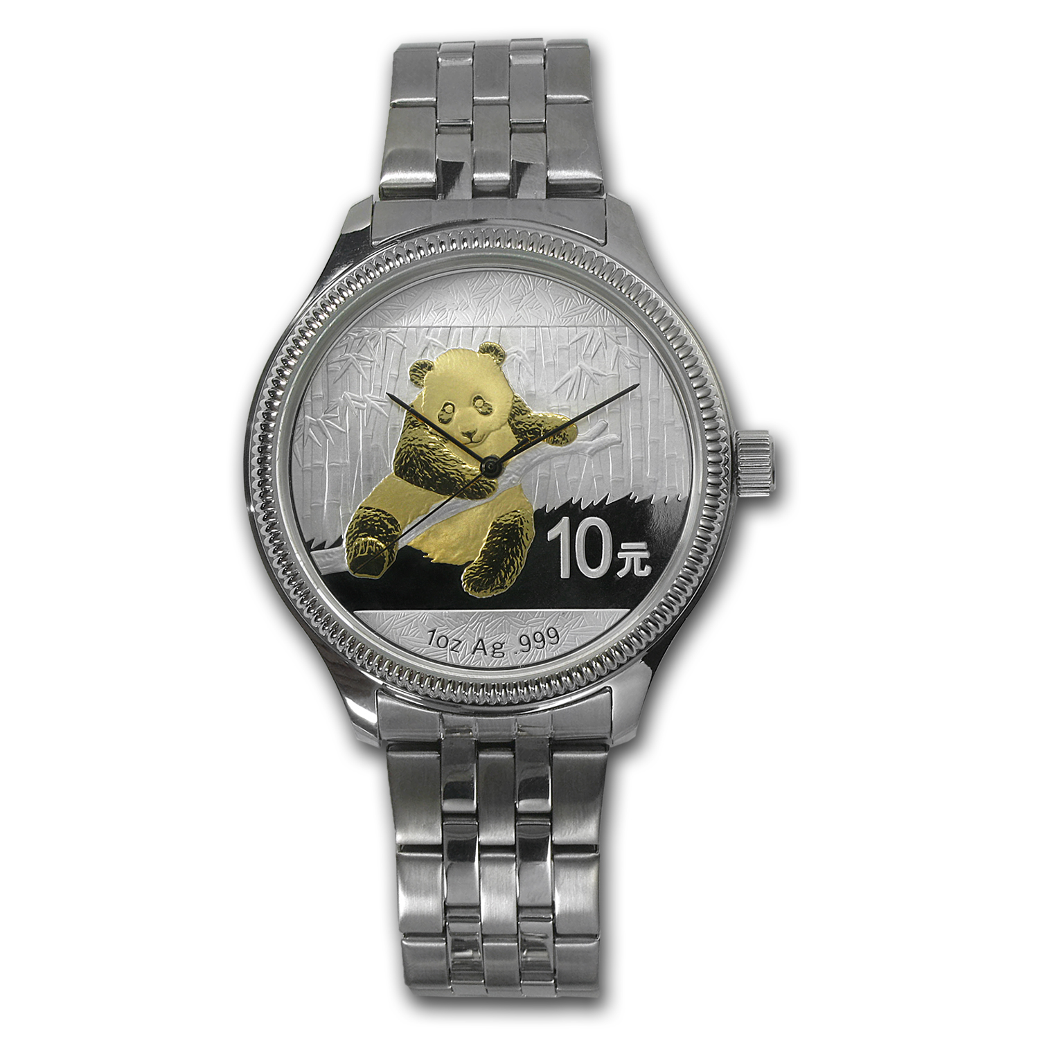 Men's Panda Aurotone Watch - Stainless Steel Bracelet