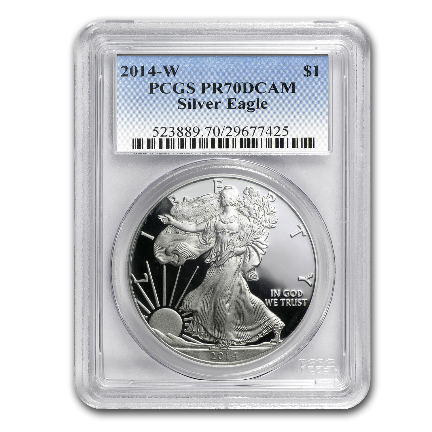 2014-W Proof Silver American Eagle PR-70 PCGS