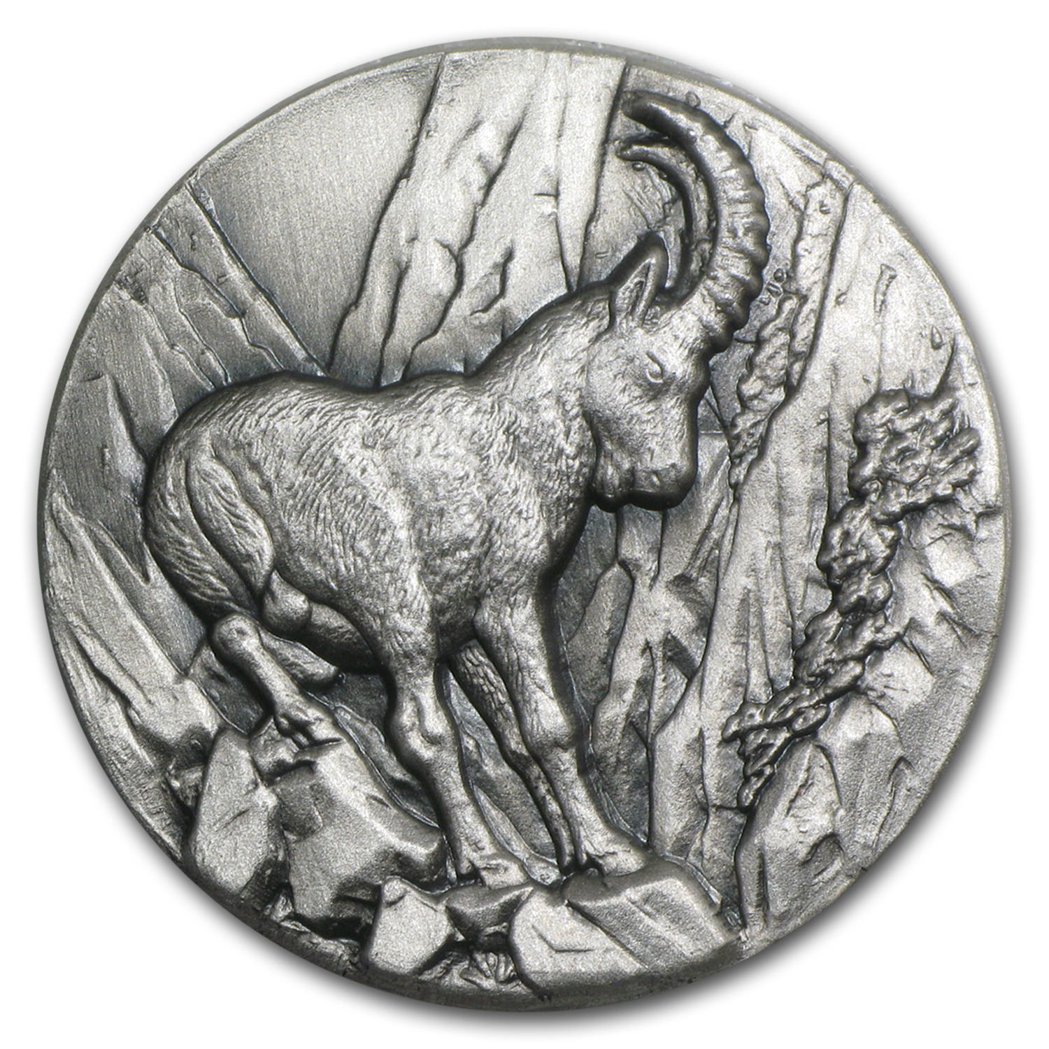 2014 Niue 1 oz Silver Swiss Wildlife High Relief Capricorn