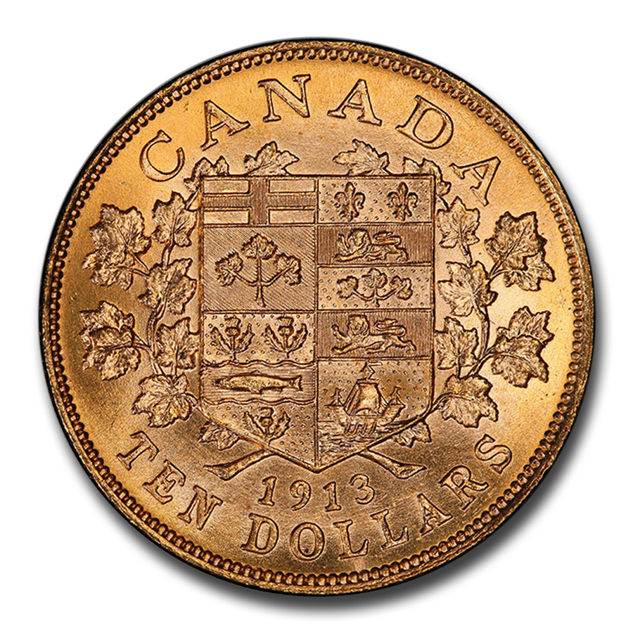 1913 Canada Gold $10 Reserve MS-64 PCGS