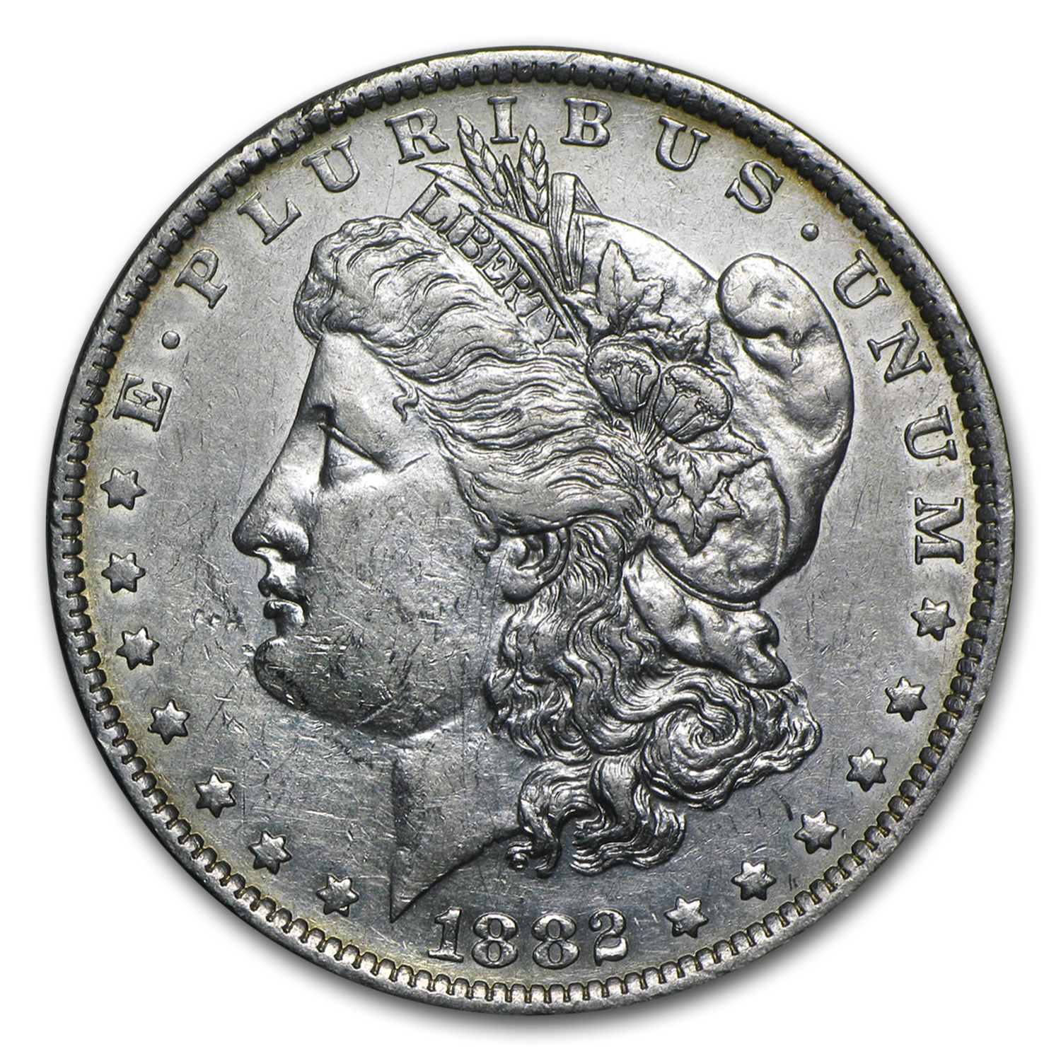1882-O/S Morgan Dollar XF