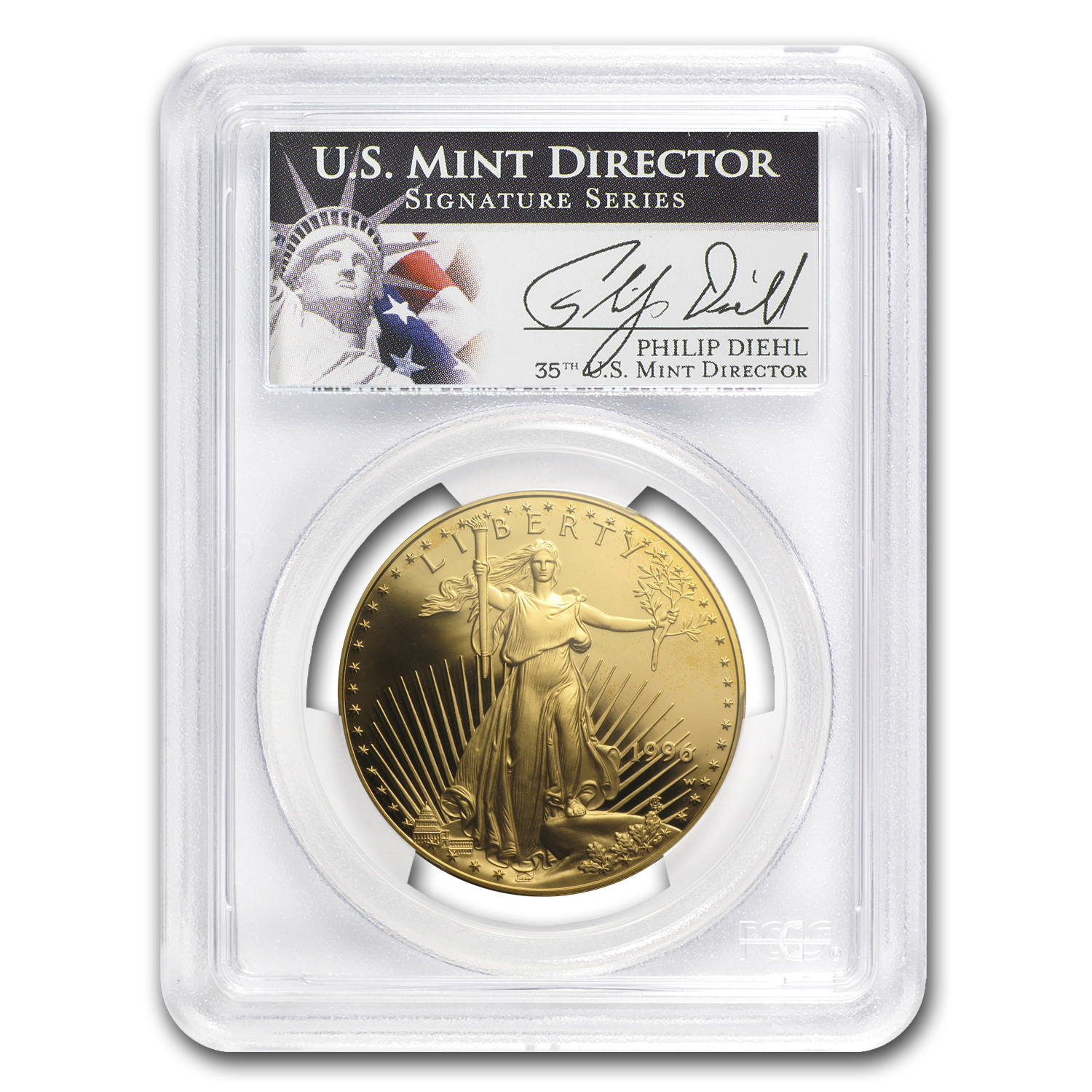 1996-W 1 oz Proof Gold American Eagle PR-70 PCGS (Philip Diehl)