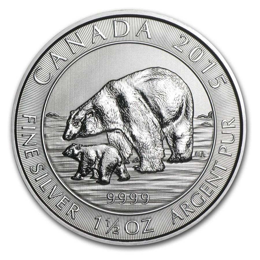 2015 Canada 1 5 Oz Silver 8 Polar Bear Amp Cub Bu 2014 1