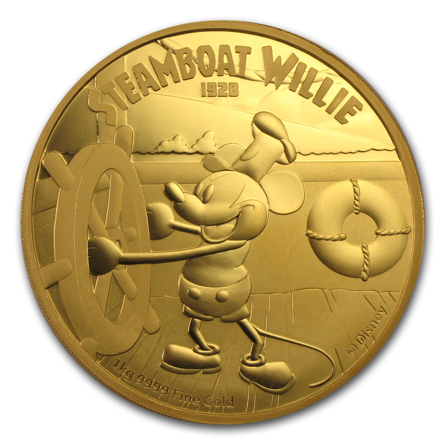 2015 Niue 1 Kilo Gold $5000 Steamboat Willie