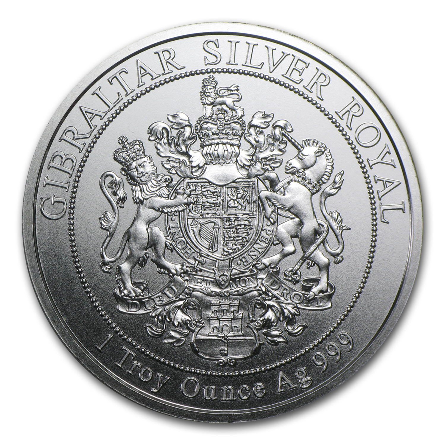 2014 Gibraltar 1 oz Silver £15 Royal (G10)