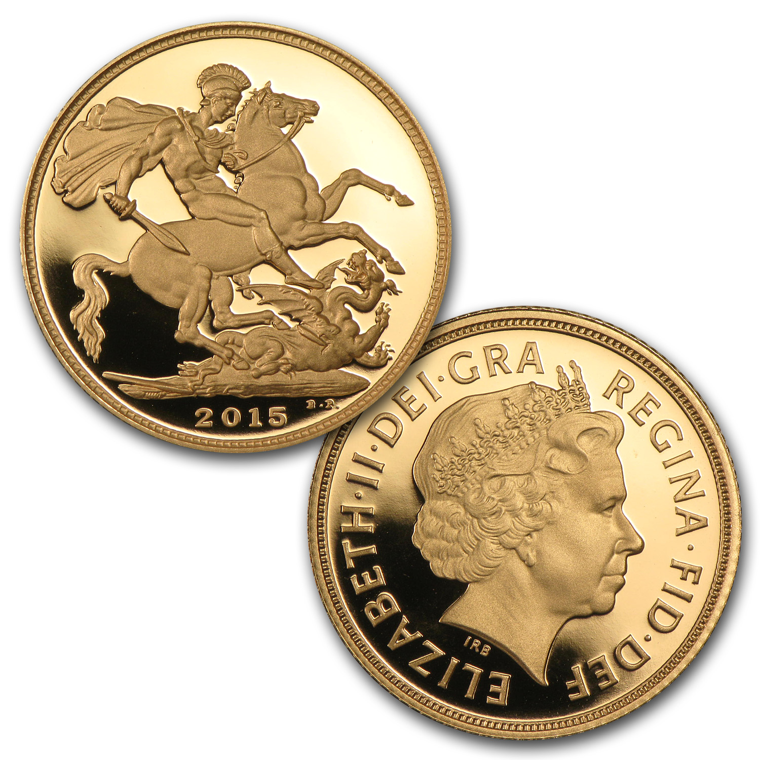 2015 Great Britain 5-Coin Gold Sovereign Proof Set