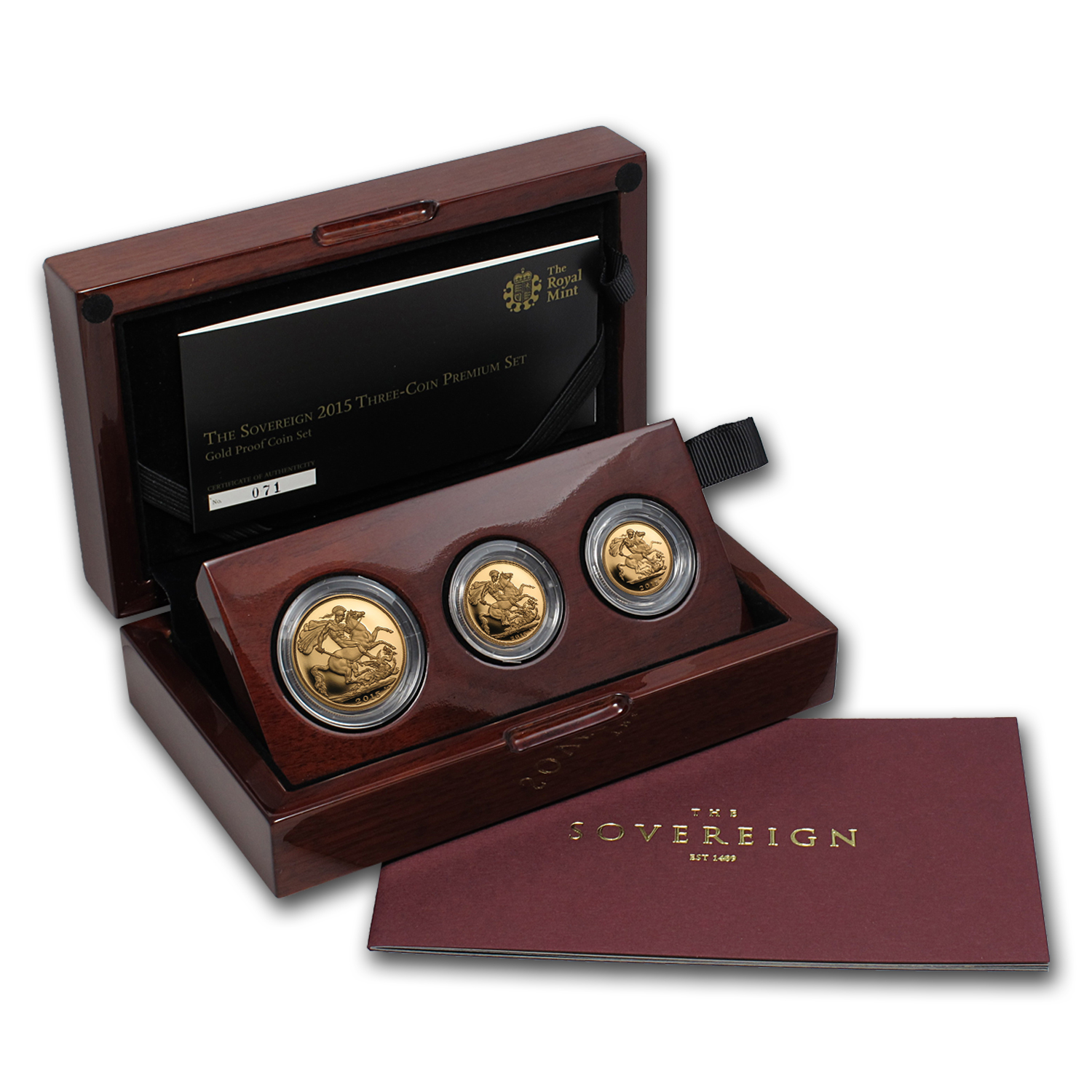 2015 Great Britain 3-Coin Gold Sovereign Premium Proof Set