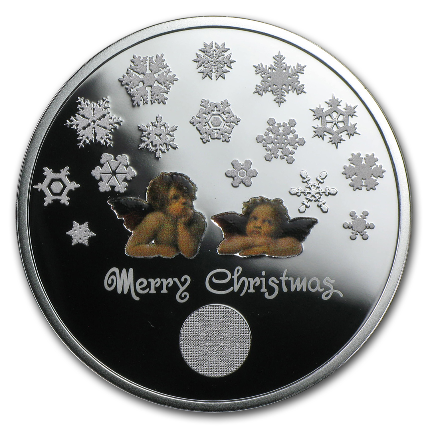 2015 Niue 1/2 oz Silver Merry Christmas w/Angel (Box & COA)