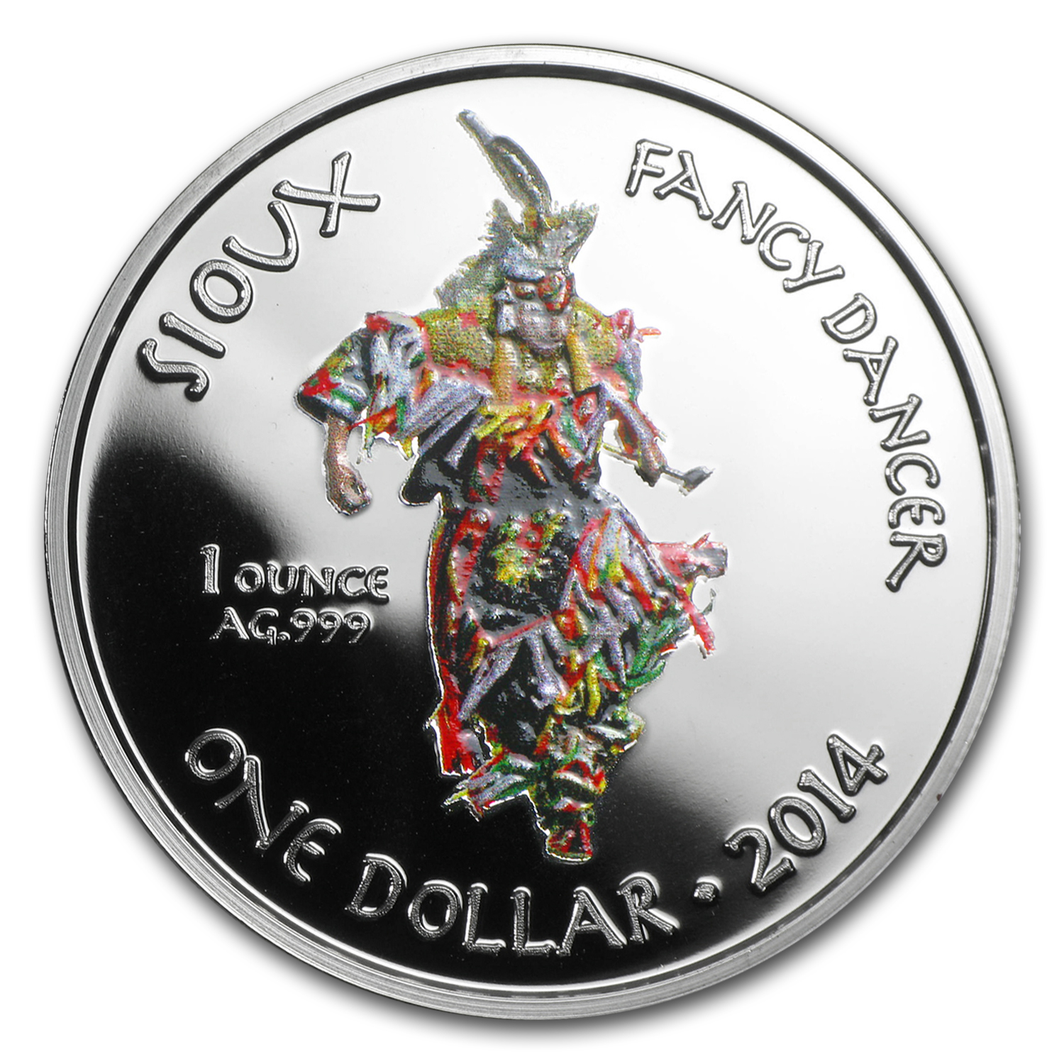2014 1 oz Silver Proof Native American Mint $1 Fancy Dancer