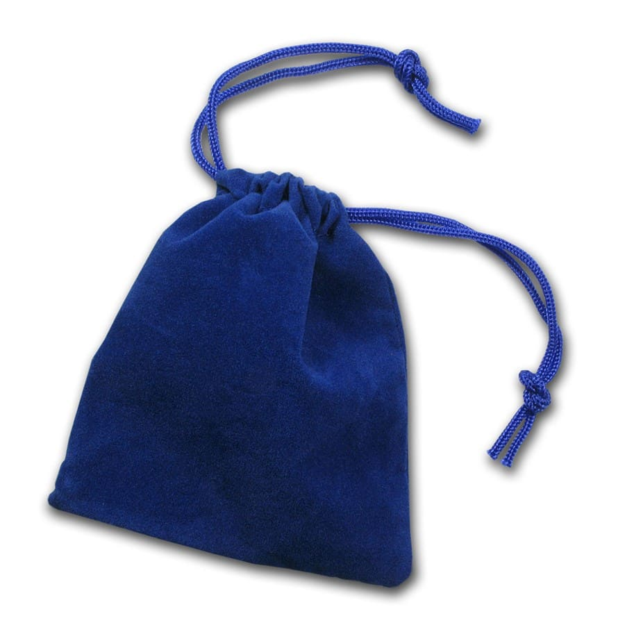 3 x 4 Velour Draw String Pouch (Royal Blue)