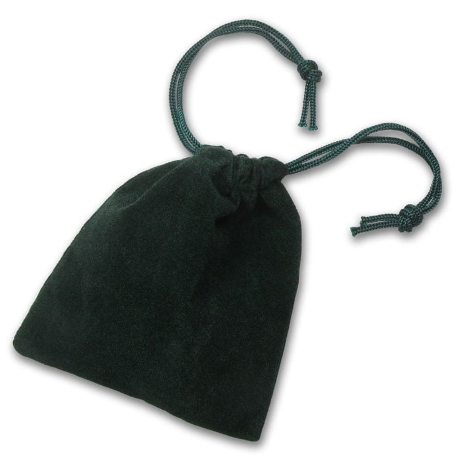 3 x 4 Velour Draw String Pouch (Green)