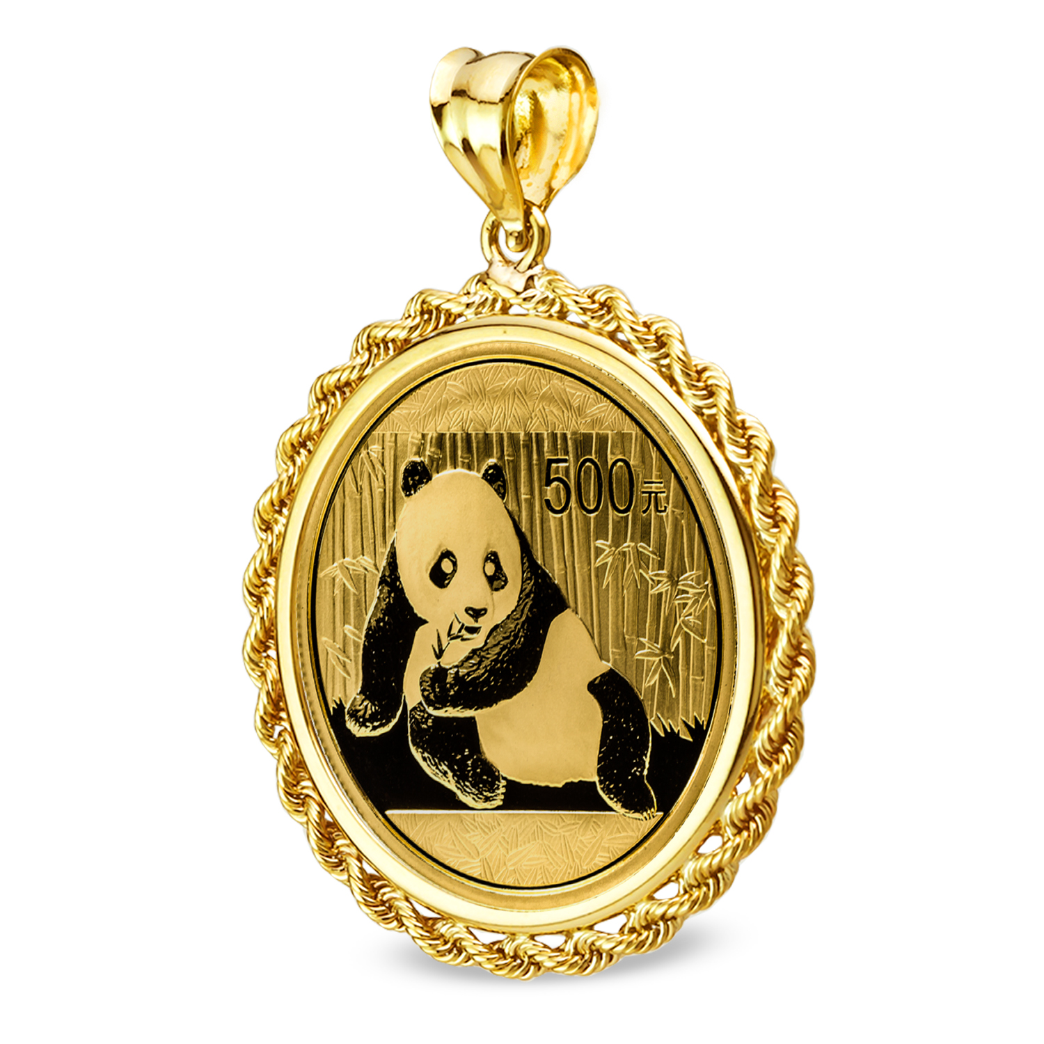 2015 1 oz Gold Panda Pendant (Rope-Prong Bezel)