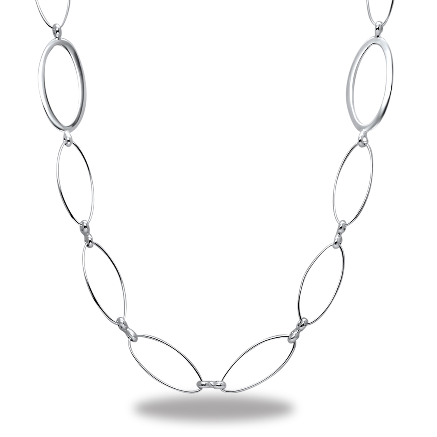 "Sterling Silver Fancy Link 42"" Necklace"