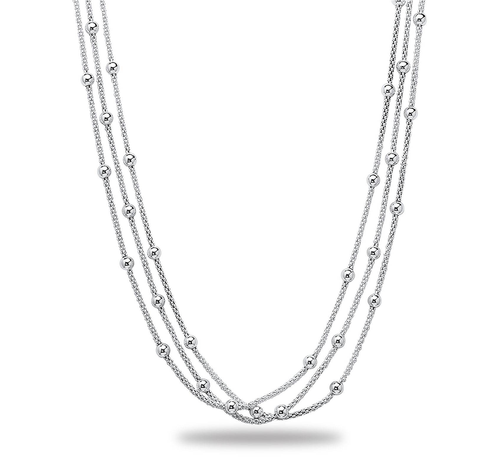 "Sterling Silver 16"" Polished Necklace"