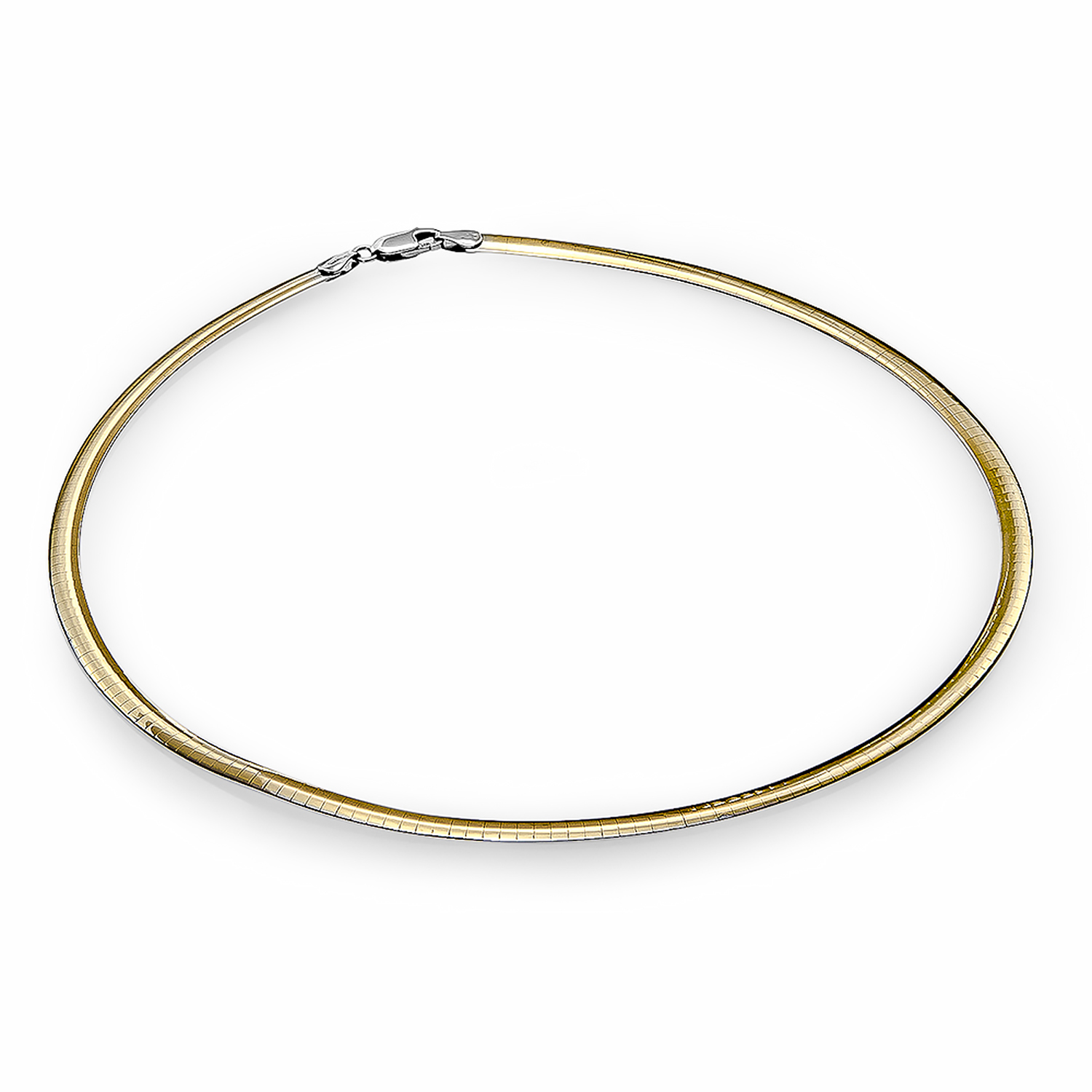 14k Two-Tone Reversible Omega Necklace