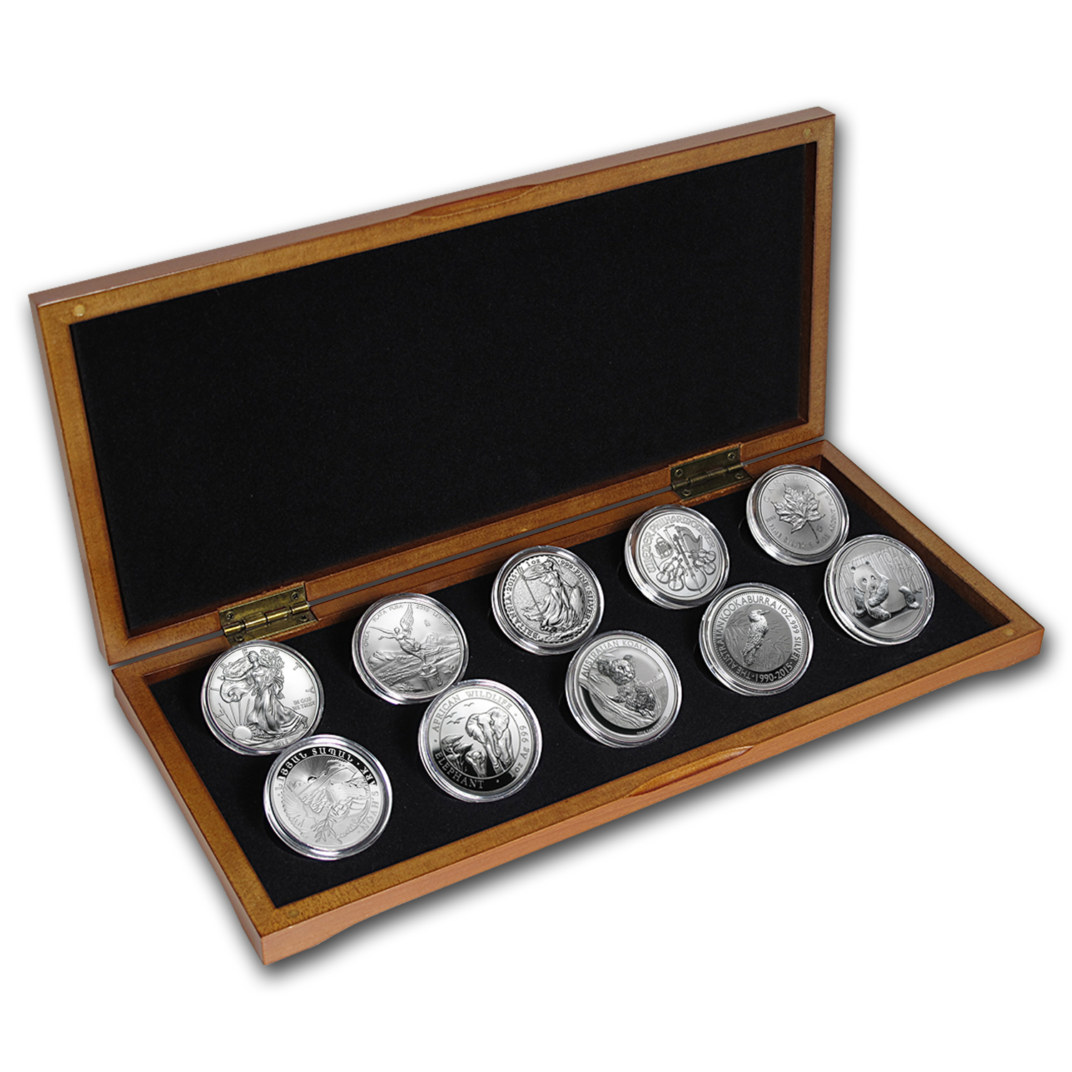 2015 10-Coin Silver 1 oz Around the World Bullion Set BU