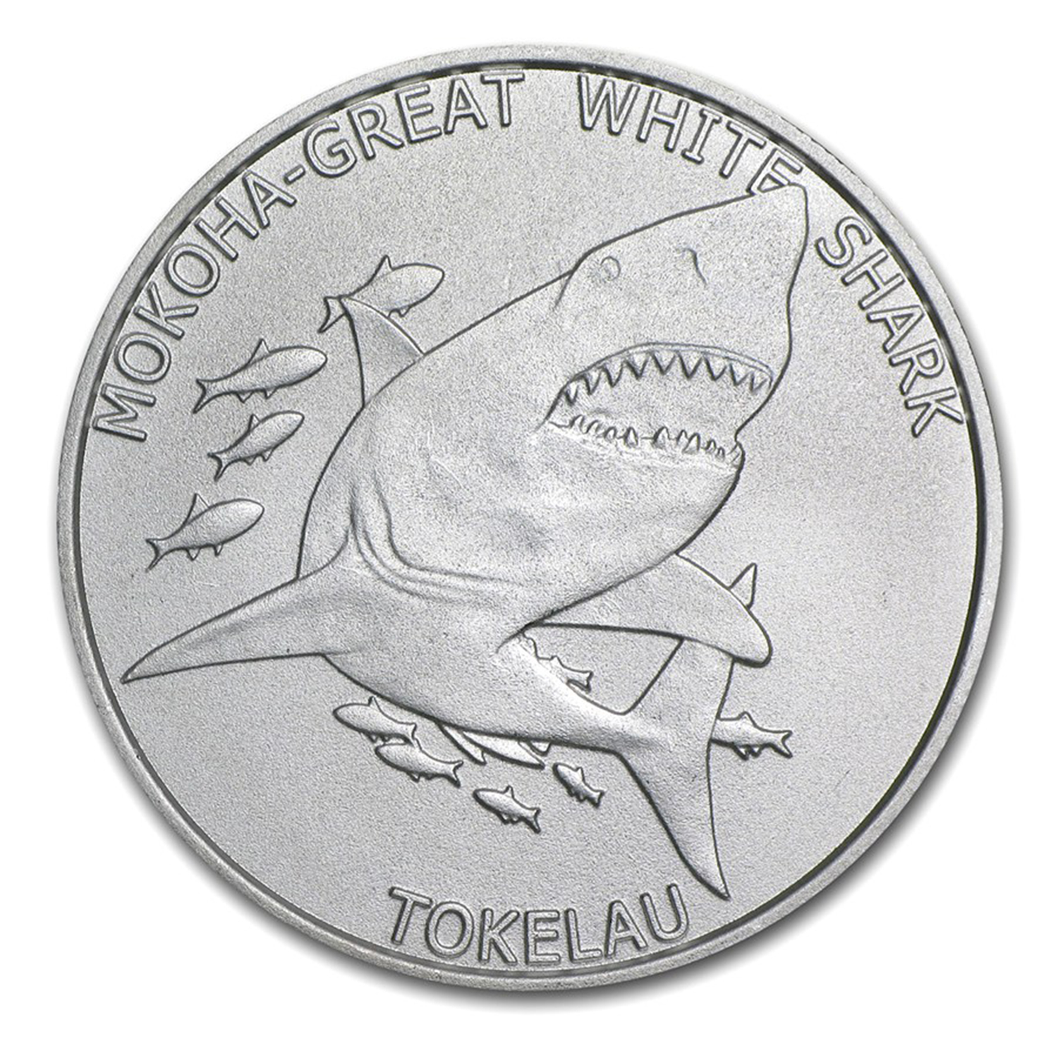 2015 Tokelau 1 oz Silver $5 Mokoha Great White Shark