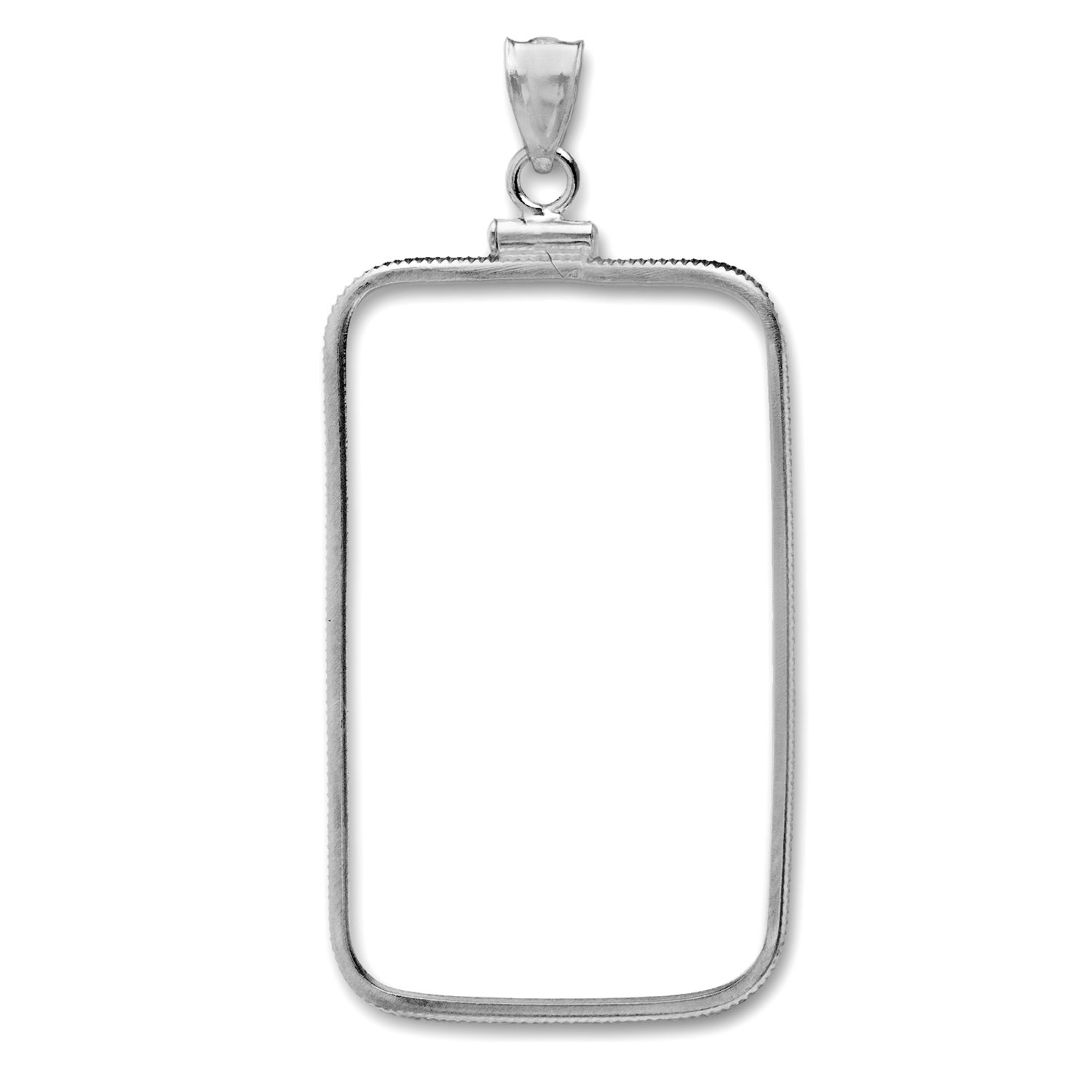 Sterling Silver Plain Front Bezel (Fits 1/2 oz Bars)