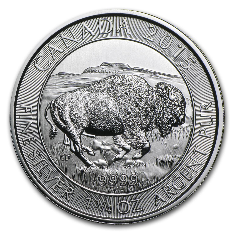 2015 Canada 1 25 Oz Silver 8 Bison Bu 2015 1 25 Oz