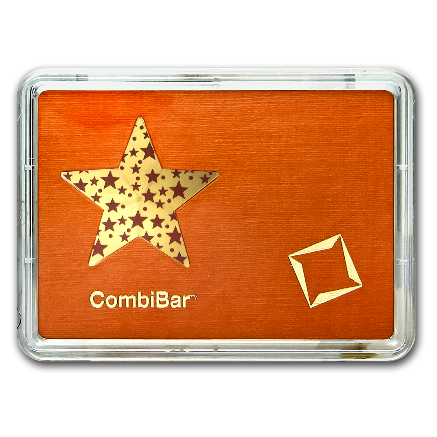 5x 1 gram Gold Star - Valcambi (Red Stars, In Assay)