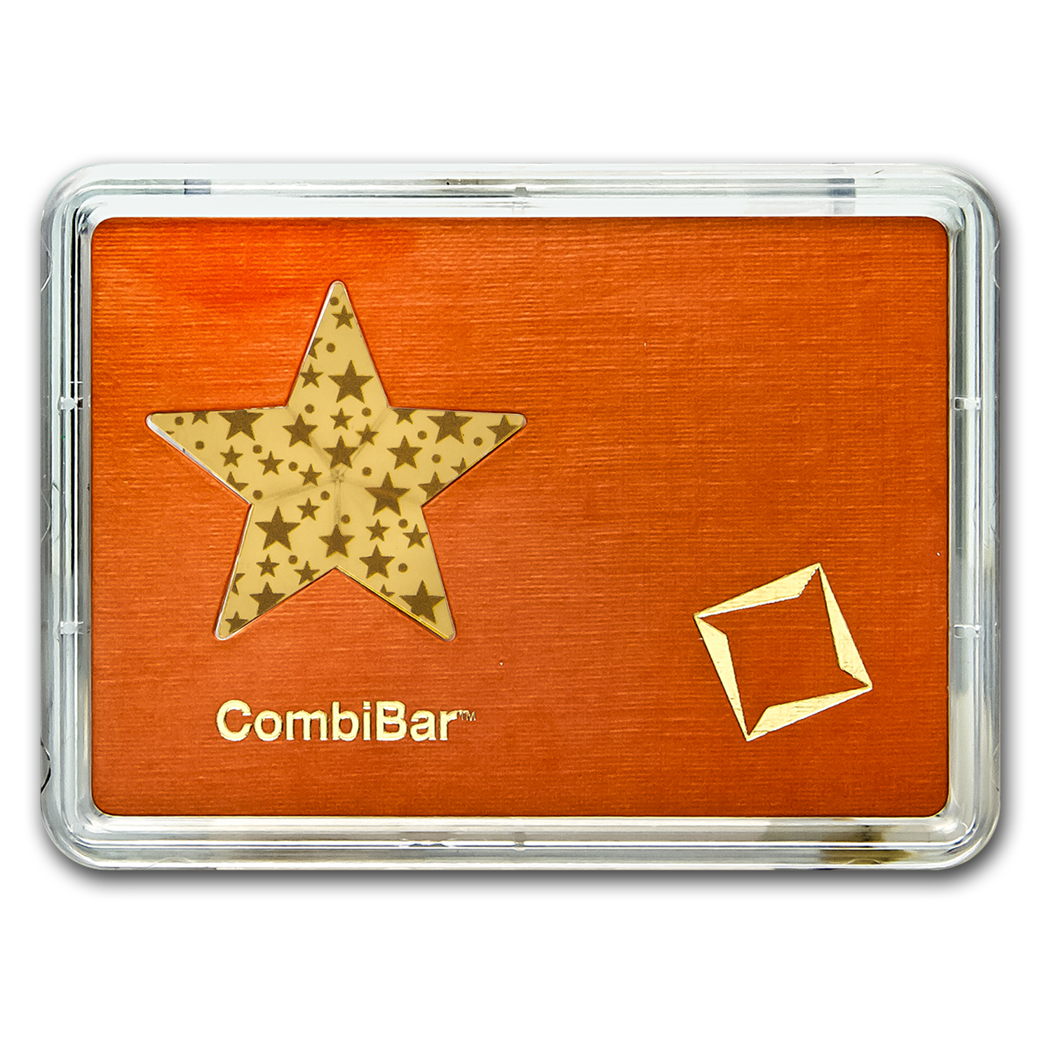 5x 1 gram Gold Star - Valcambi (Matte Gold Stars, In Assay)