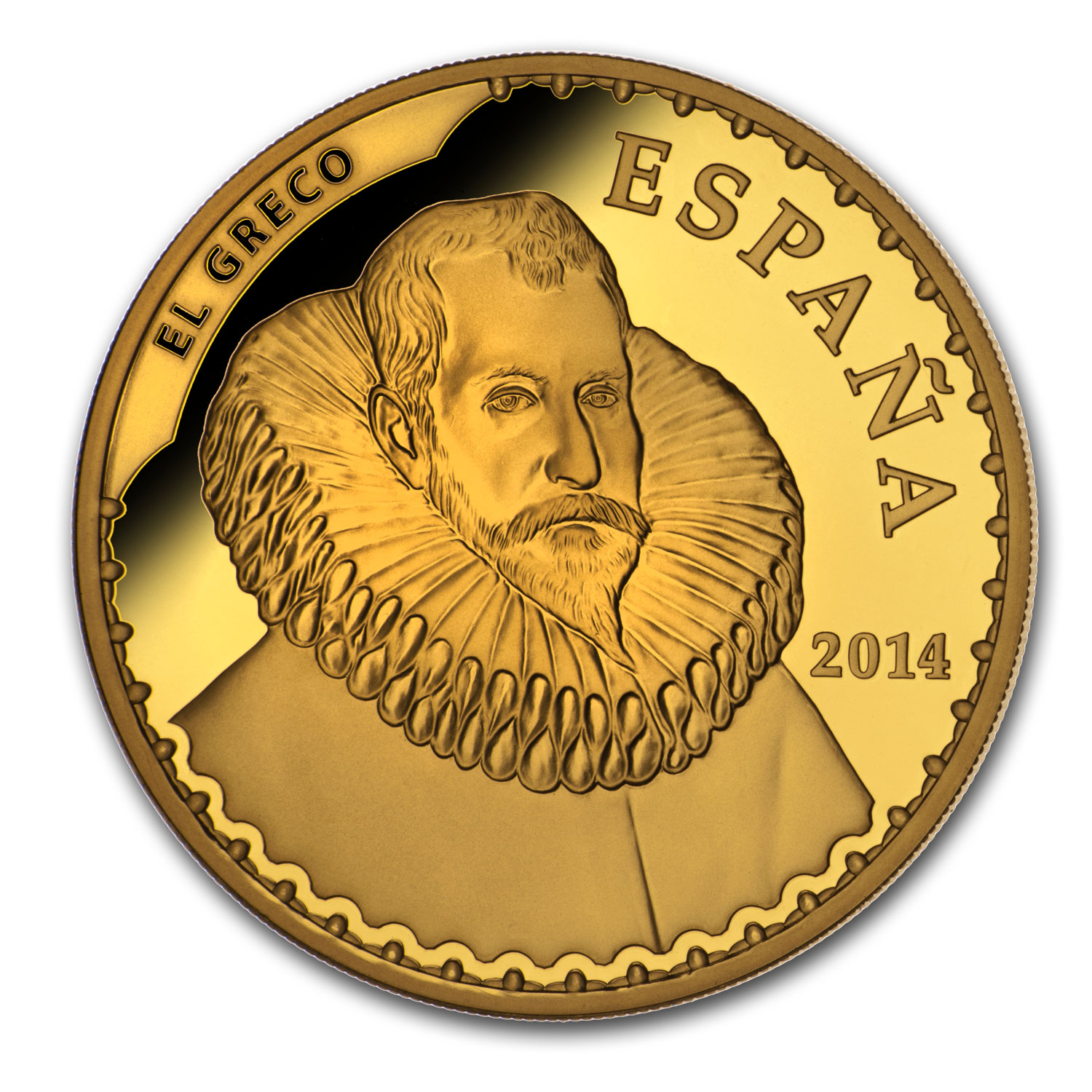 2014 Proof Gold €400 Treasures of the Spanish Museums (El Greco)