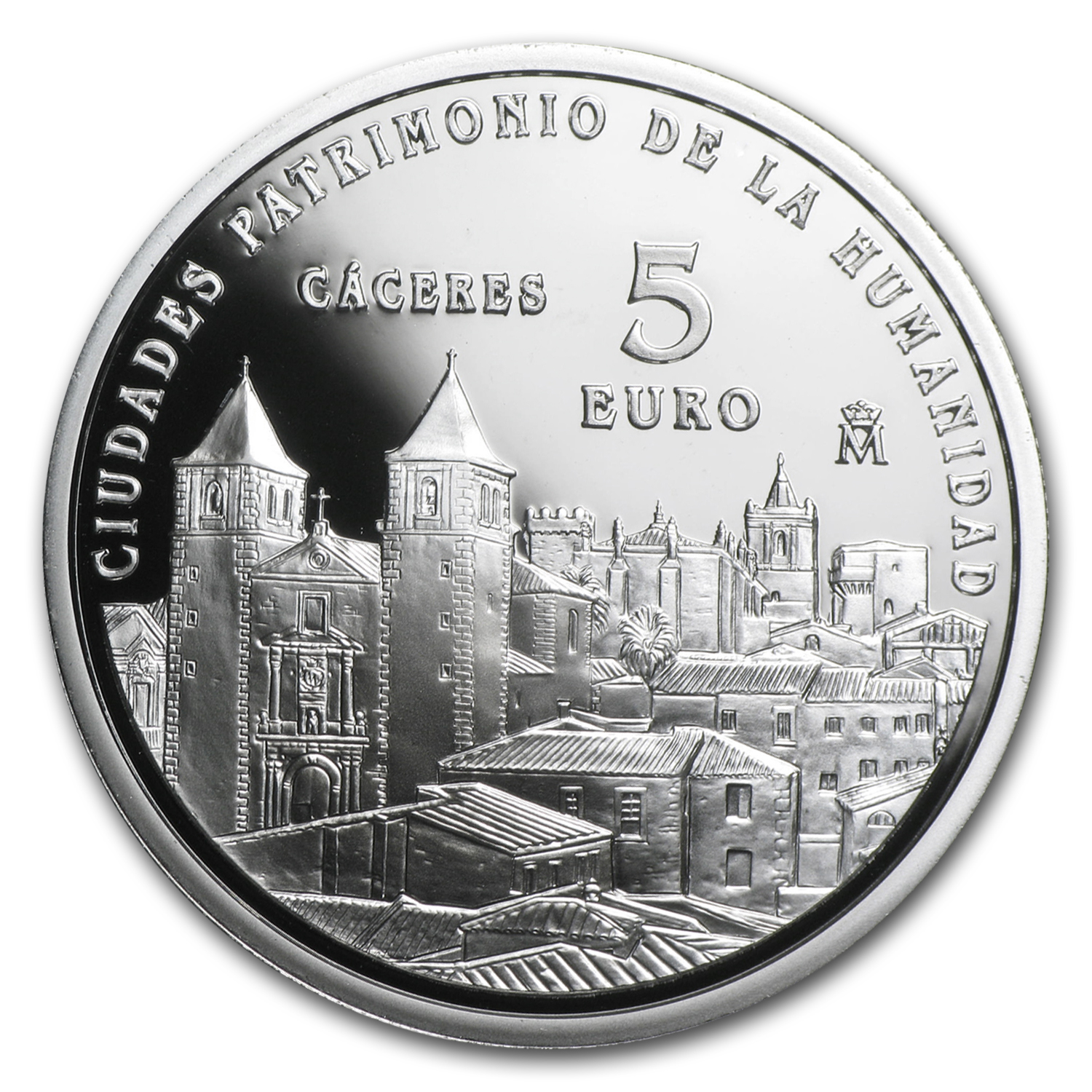 2014 Spain Proof Silver €5 UNESCO Càceres