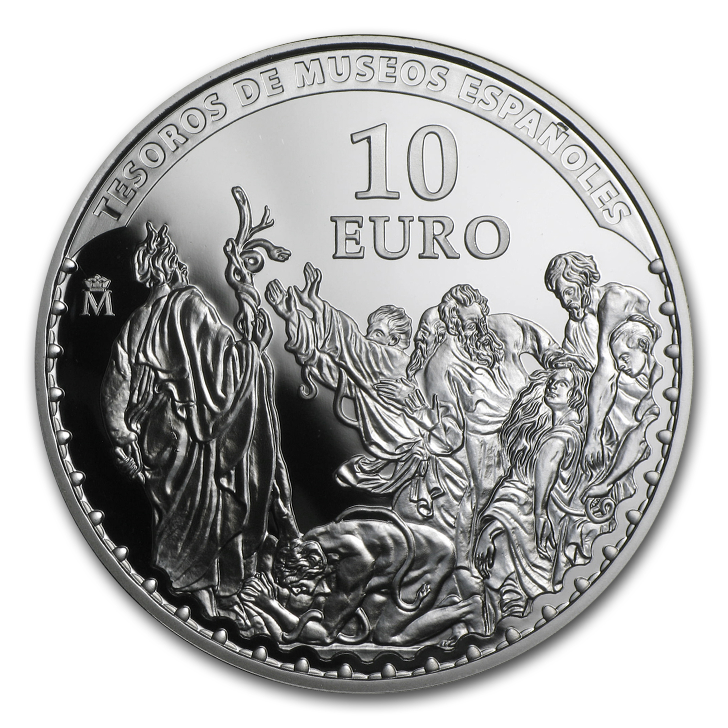 2014 Proof Silver €10 Treasures of the Spanish Museums (Van Dyck)