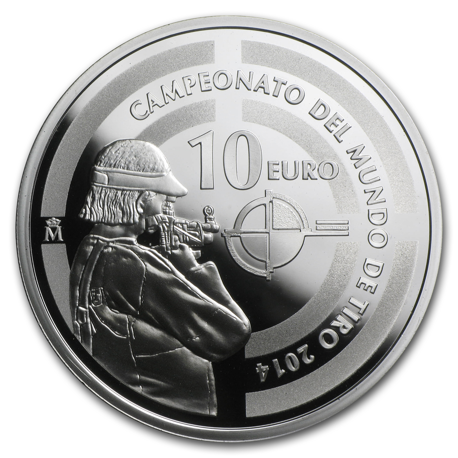 2014 Proof Silver €10 51st ISSF World Championship