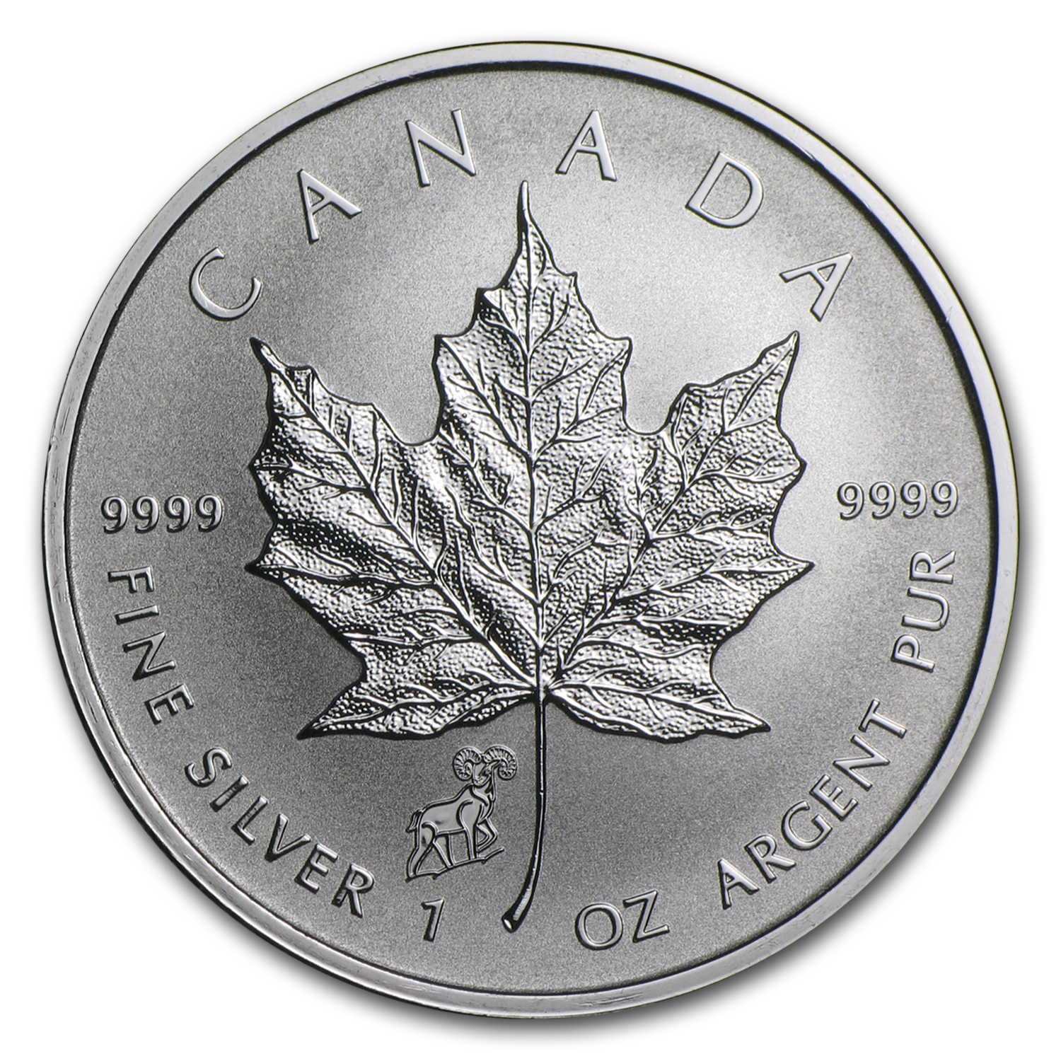 2015 Canada 1 oz Silver Maple Leaf Lunar Sheep Privy