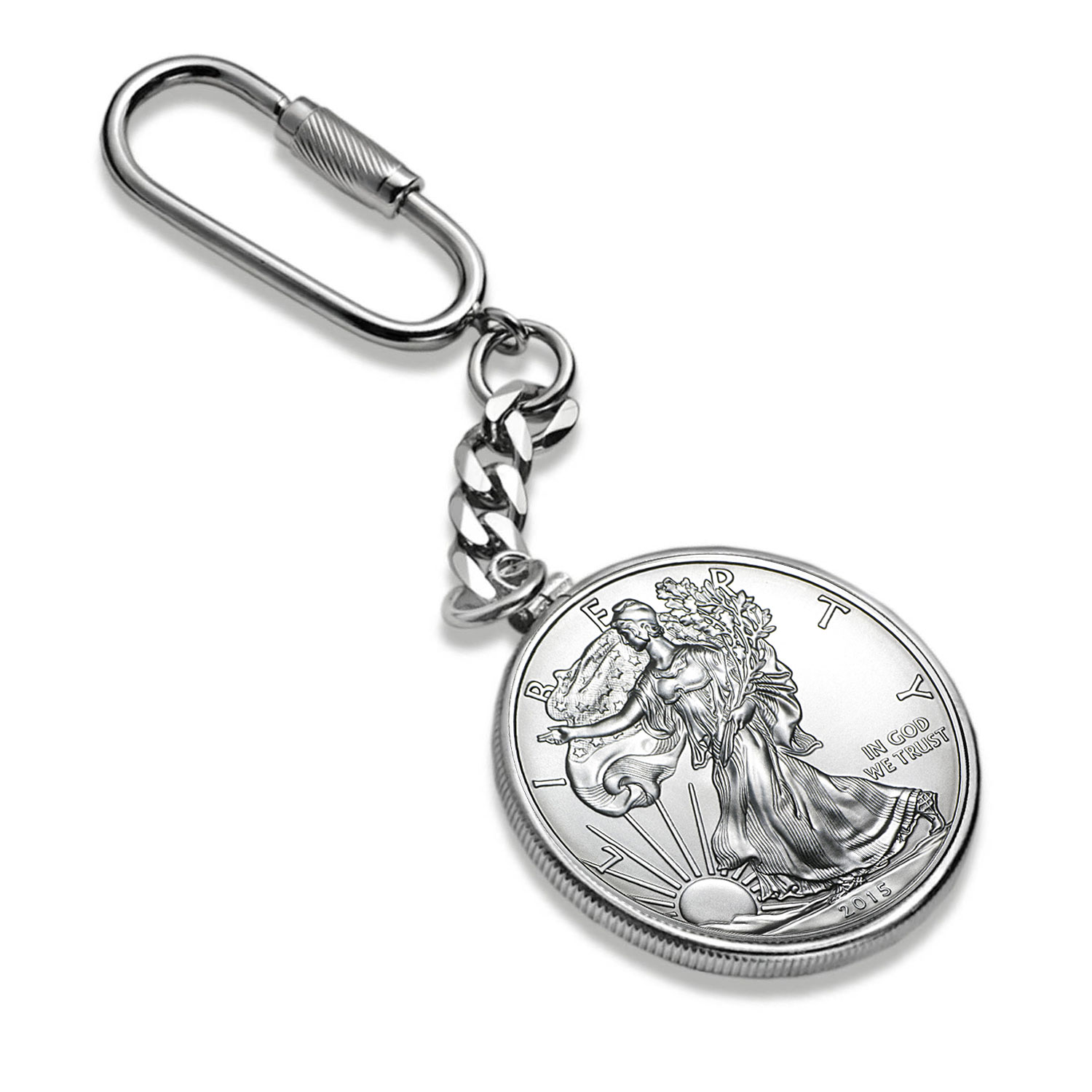 2015 1 oz Silver American Eagle Key Ring