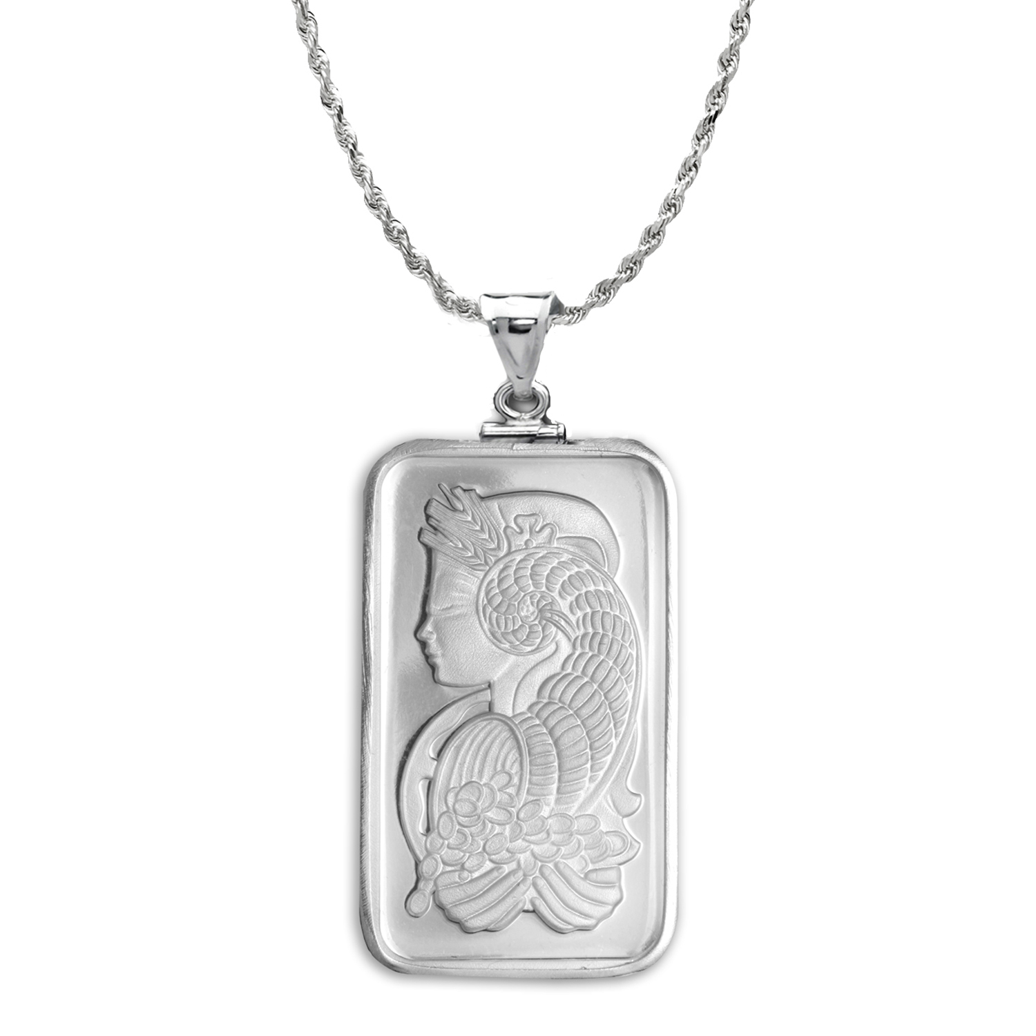 20 gram Silver - PAMP Suisse Fortuna Pendant (w/Chain)