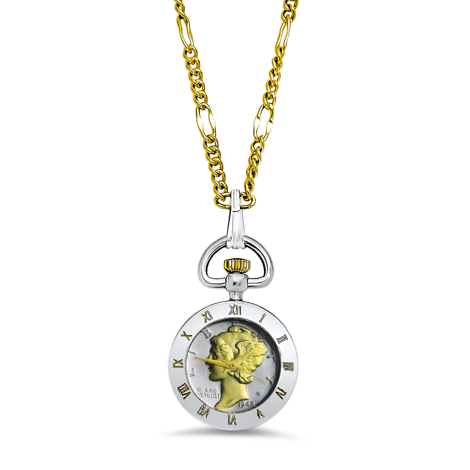 US Mercury Dime Watch Pendant