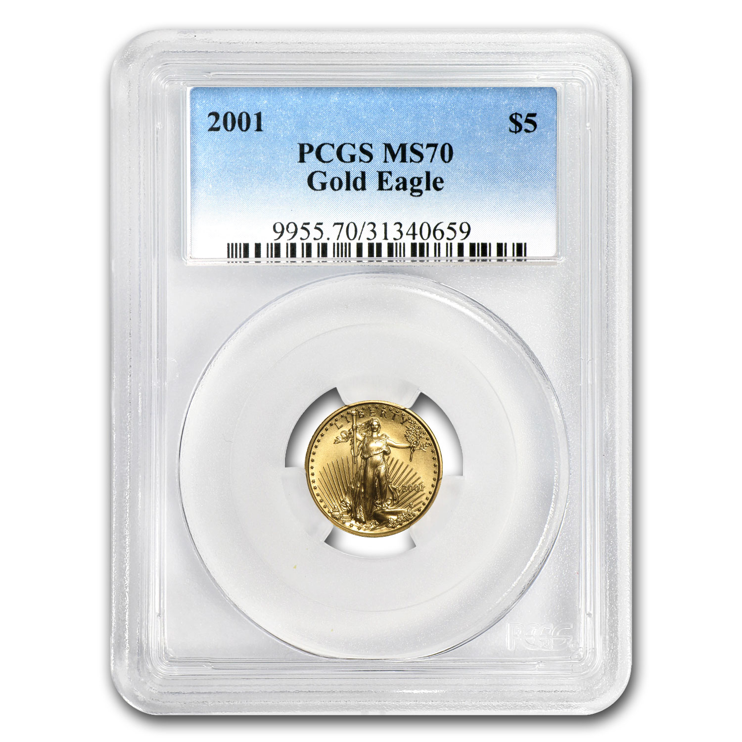 2001 1/10 oz Gold American Eagle MS-70 PCGS