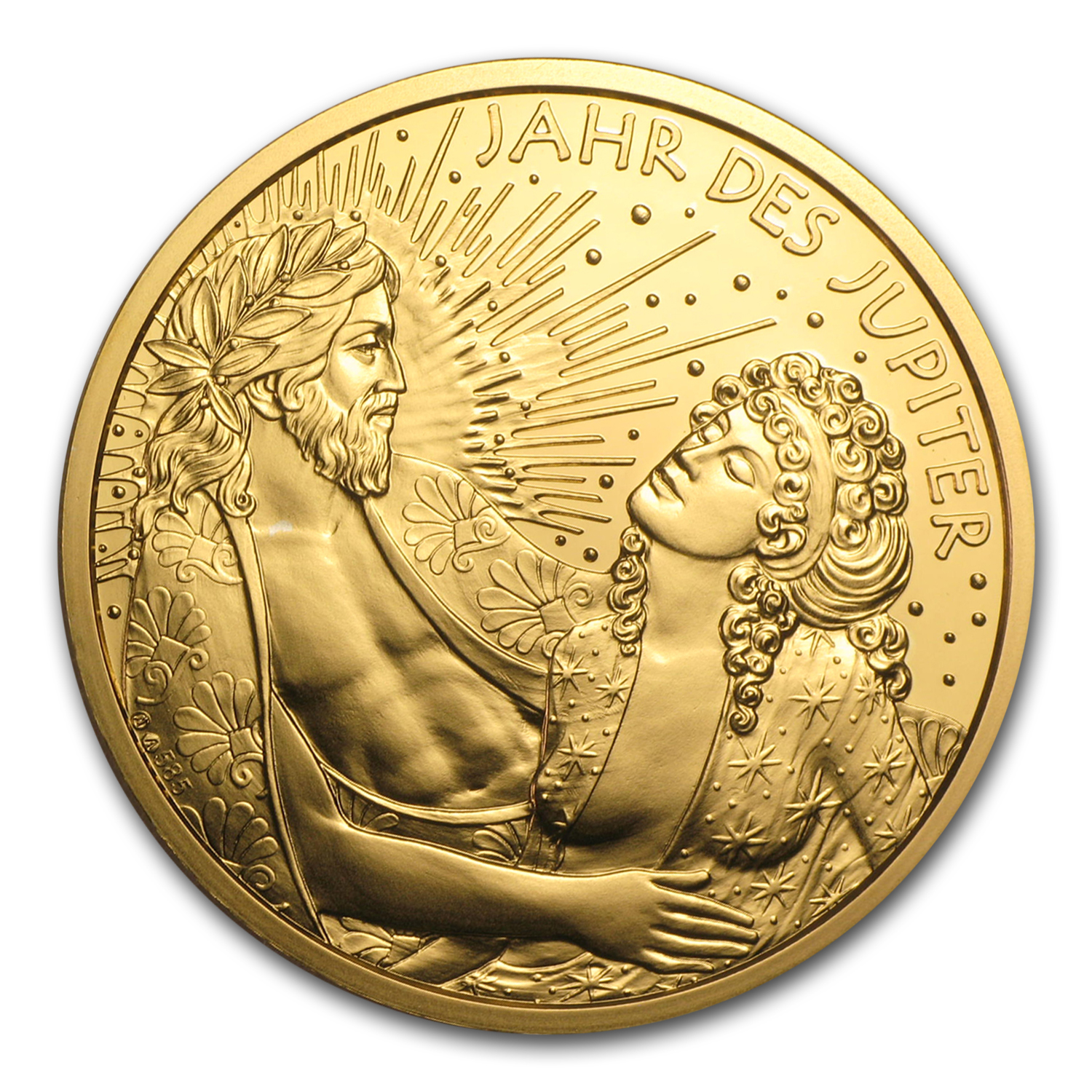 2015 Austria Gold Golden Age of Jupiter (Kalendermedaille)