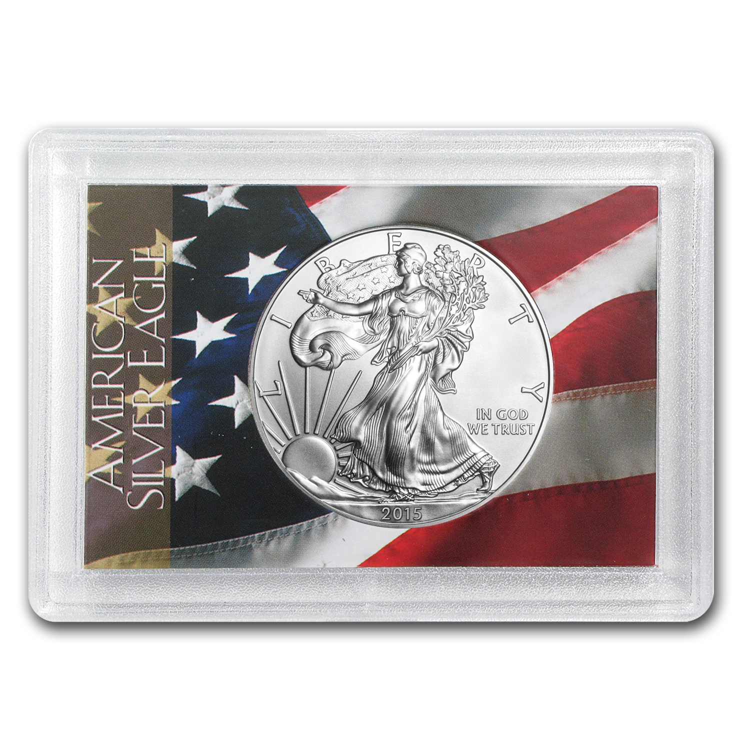 2015 1 oz Silver American Eagle BU (Flag Design, Harris Holder)