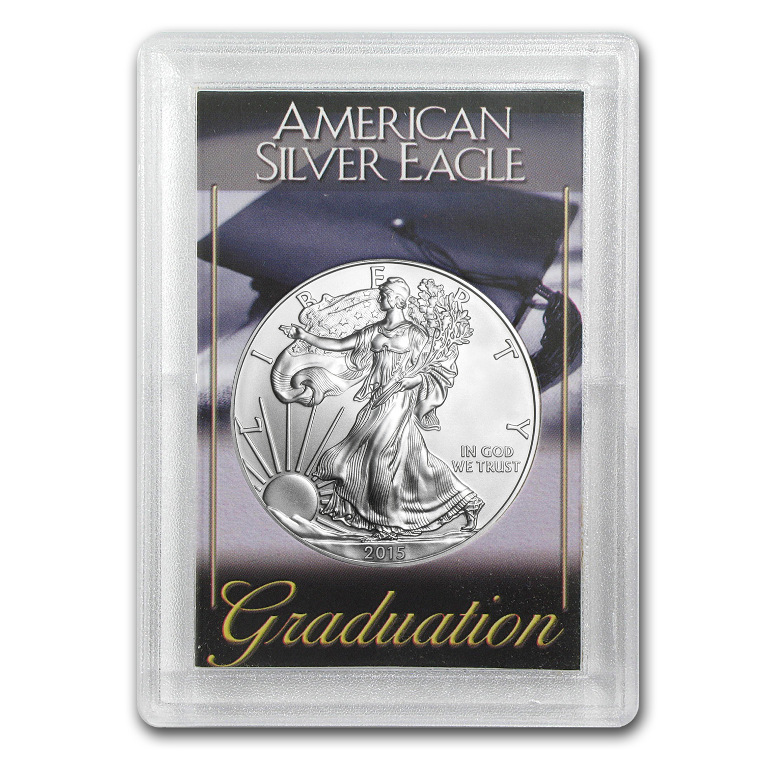 2015 1 oz Silver American Eagle BU (Graduation, Harris Holder)
