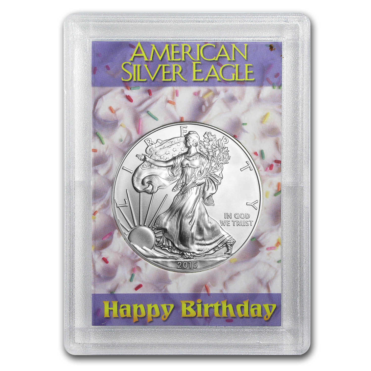 2015 1 oz Silver Eagle BU (Happy Birthday, Harris Holder)