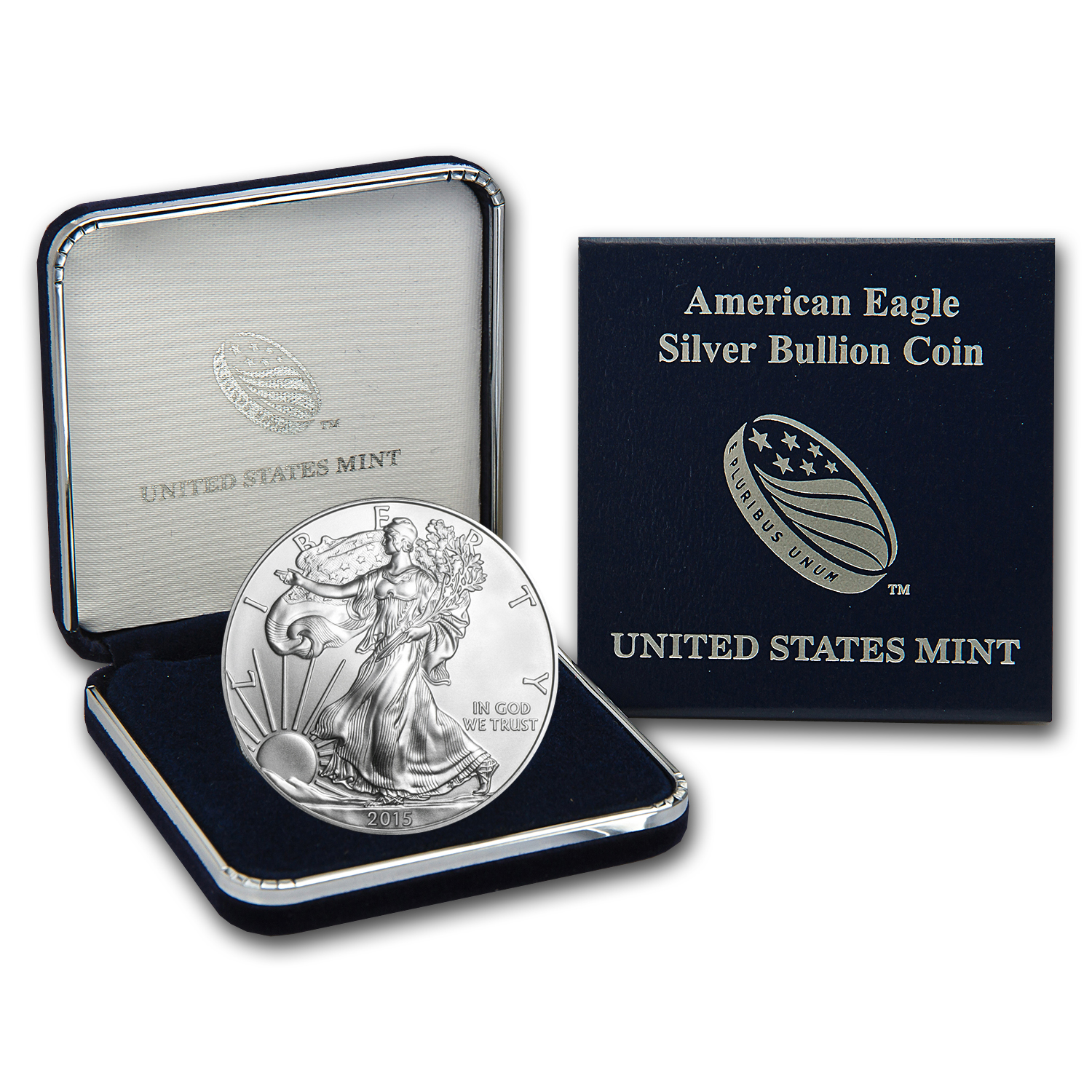2015 1 oz Silver American Eagle BU (w/U.S. Mint Box)