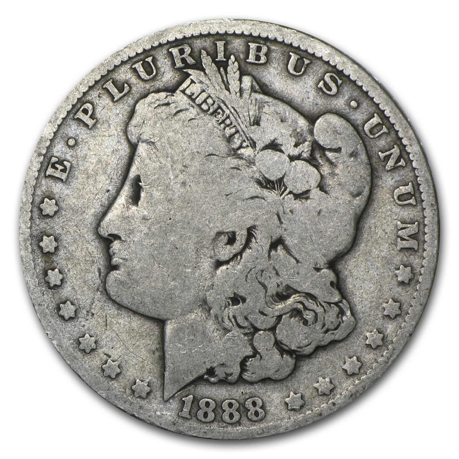 1888-O Morgan Dollar AG (VAM-4, Hot Lips, Doubled Die)